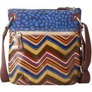 FOSSIL KEY PER Crossbody Purse Handbag ZigZag